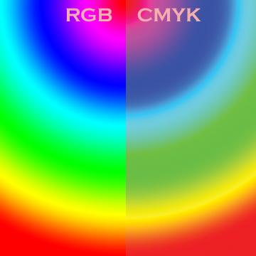 В RGB гораздо больше оттенков